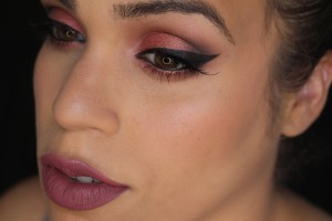 Smokey Cranberry look