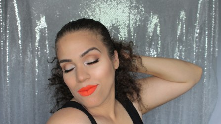 Bright Orange Lips